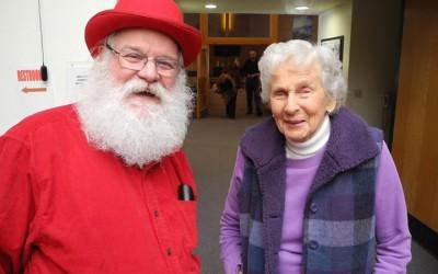 Look who showed up at worship Sunday!! So very good to see Virginia Pettibone ha…