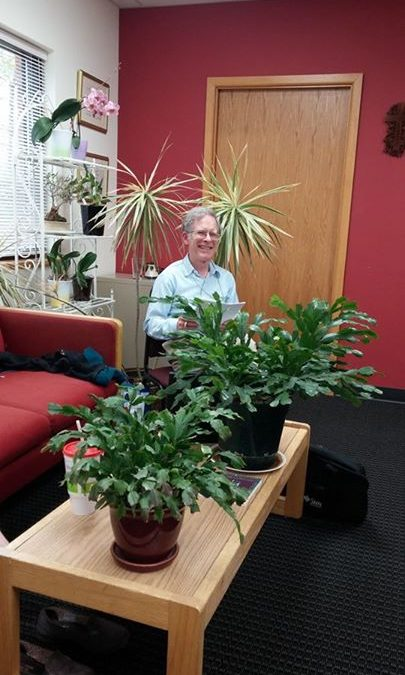 "Who's that in the office?!  It's ""Jungle JIm""!!  Yuk-yuk-yuk . . .  A big shout …"
