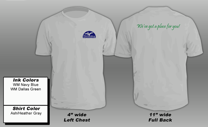"""Soon to be the latest fashion statement Harmony: T-shirts! """"Paulette"""" purple on …"""
