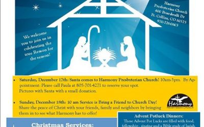 Jesus . . . IS the reason for the season.  There is a lot happening at Harmony i…