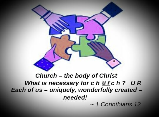We are, all of us together, the Body of Christ!