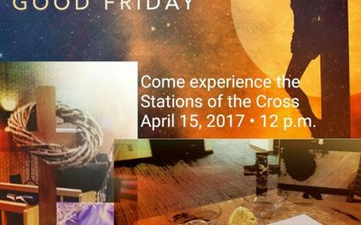 We commemorate Jesus' walk to Calvary with symbolic reenactment stations.