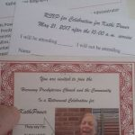Just got my invitation and response card today for Kathi's retirement party (the…