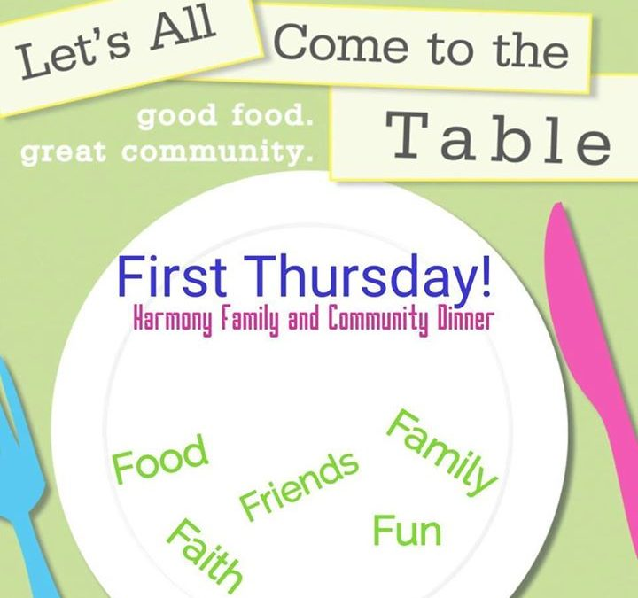 Getting close to 1st Thursday again! Come join us for family-style fellowship, d…