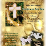 What a fun experience to decorate the tree with the symbols of Christ for Chrism…