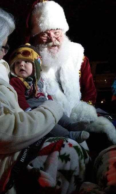 Caroling was so much fun! This sweet 8-month-old little boy transfixed on Santa …