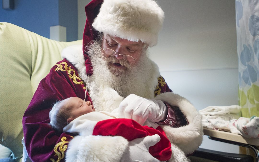 Santa Claus visits NICU at Poudre Valley Hospital