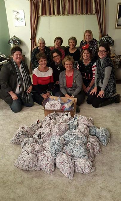 Several ladies from the church assembled 50 toiletry and hygiene bags last night…