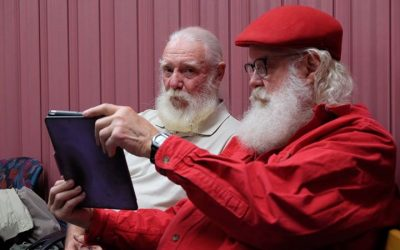 We are blessed here at Harmony to have not one, but two resident Santas.  It is …