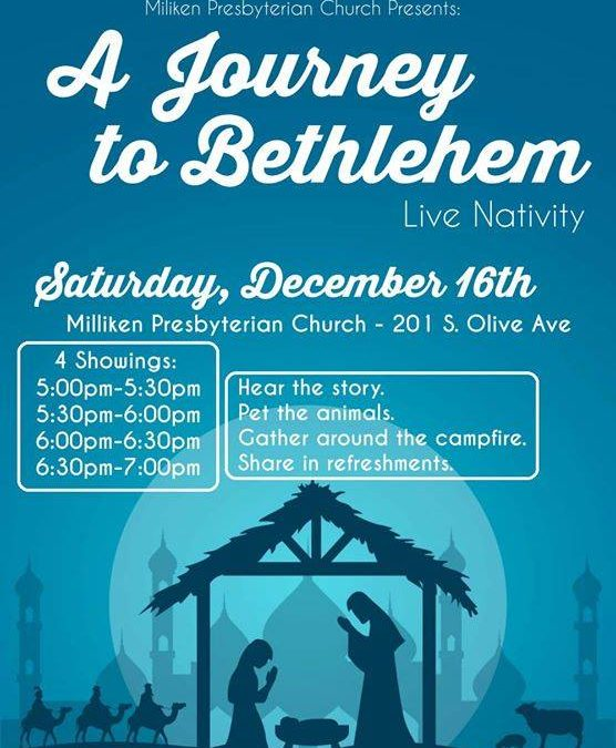 Who else plans to attend the Live Nativity at Milliken Presbyterian Church tonig…