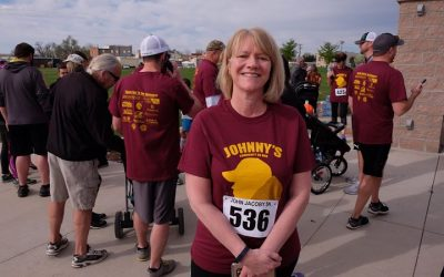 Huge kudos to Connie for walking a 5K in Windsor today to honor the life of John…